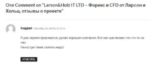 Larson&Holz отзыв