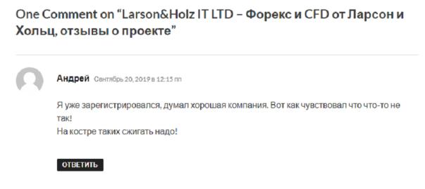 Larson Holz отзыв